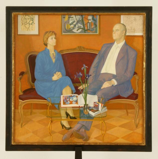 Zsilinszkij, Dimitrij: Kettős Portré: Irene és Peter Ludwig (Fotó: Rosta József)