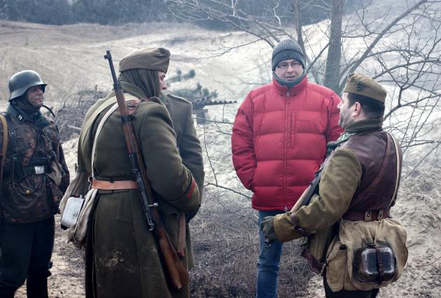 A piros dzsekiben Nóti-Nagy Attila