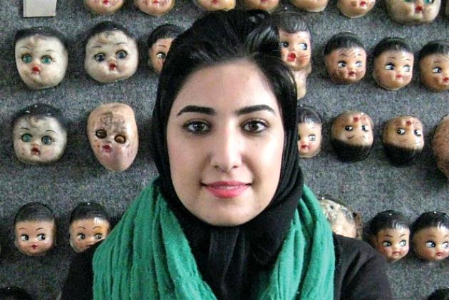 Atena Farghadani (Fotó: © Free Atena / theartnewspaper.com)