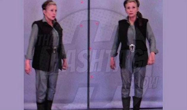 Carrie Fisher kosztümben (forrás: mafab.hu)