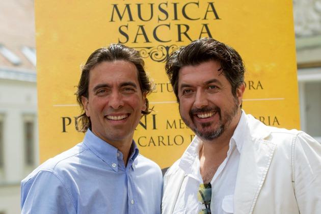 Ifj. Carlo Ponti olasz karmester és László Boldizsár tenor (MTI Fotó: Szigetváry Zsolt)