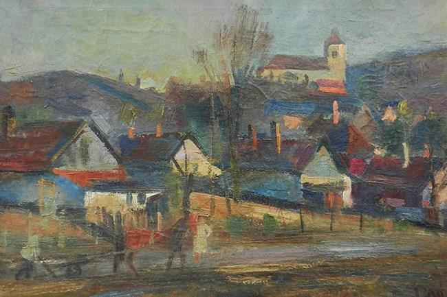 Doór Ferenc: Felvidéki falu (forrás: hir24.hu)