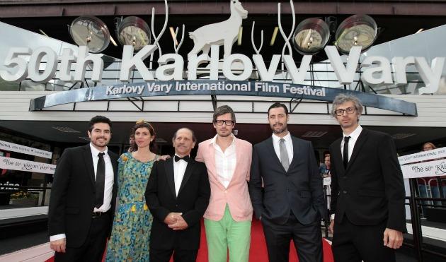 A Bob and the Trees stábja a filmfesztiválon (Fotó: kviff.com)