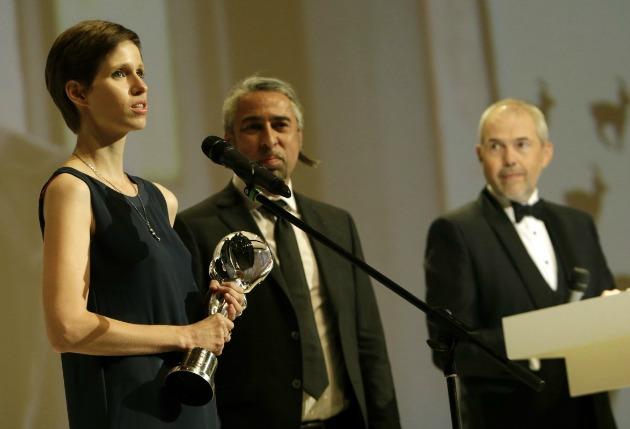 Horváth Lili rendező és Fehér Károly producer (Fotó: kviff.com)