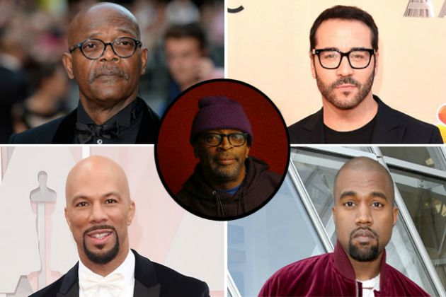 Samuel L. Jackson, Jeremy Piven, Kanye West, Common, Spike Lee (Fotó: thewrap.com)