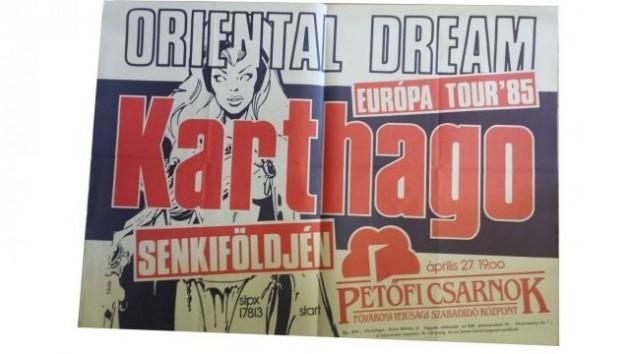 A '85-ös koncert plakátja, forrás: karthagoband.com