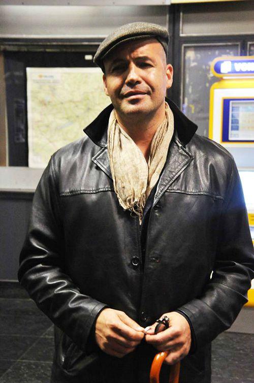Billy Zane a Keleti pályaudvaron (Fotó: Humans of Transit Zone)