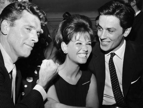 Burt Lancester, Claudia Cardinale és Alain Delon Rómában (1962) - fotó: Isabel Luzia Arantes