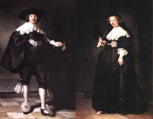 Rembrandt: Maerten Soolmans és Oopjen Coppit portréja (Fotó:  La Tribune de l'Art / news.artnet.com)