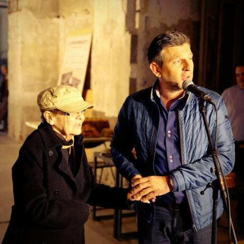 Törőcsik Mari és Kárász Róbert a sajtótájékoztatón
