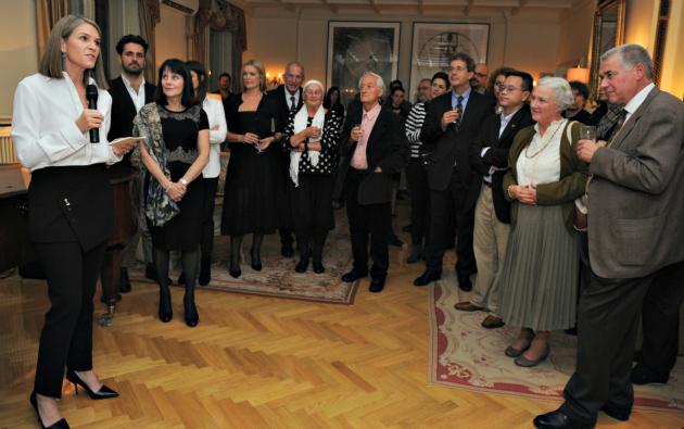 Colleen Bell, Ellen Susman és a vendégek (Fotó: Németh Attila, Amerikai Nagykövetség)