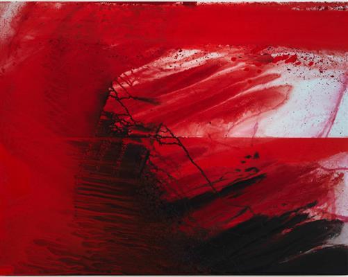 Barnaby Furnas, Vörös hullám II, 2010, a művész és a Marianne Boesky Gallery, New York, New York tulajdona.
