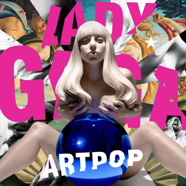 A Koons által tervezett Lady Gaga lemezborító