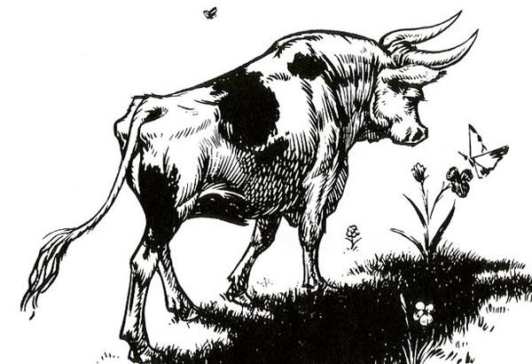 Ferdinánd, a bika: Rober Lawson eredeti illusztrációja