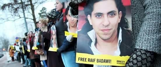 Kép forrása: Raif Badawi hivatalos Facebook-oldala