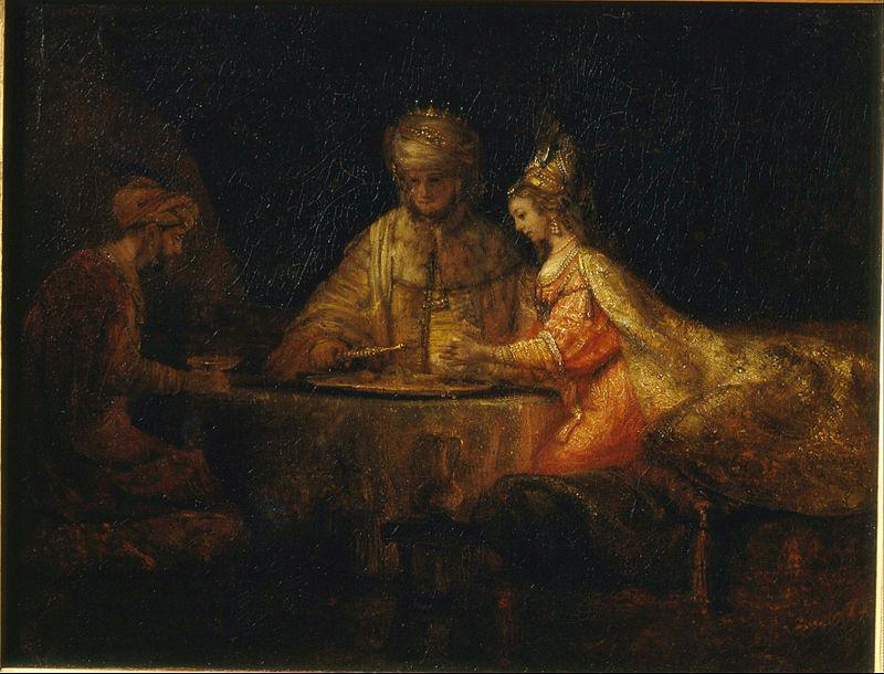 Rembrandt: Ahasvérus és Eszter