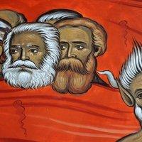 Freskón a pokolbéli Marx és Tito