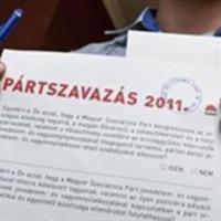 Pártszavazás után