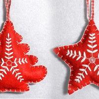 Napi karácsonyi tipp 20. Filc dekorációk, sablonnal
