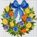 Keresztszem: Tavaszváró koszorú