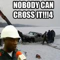Nobody can cross it...