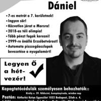 Mogács Dániel, 7. kerületi polgármester-jelöltünk plakátai