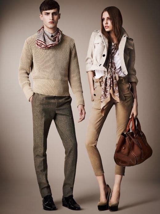 Burberry pre spring 2013 collection couple.jpg