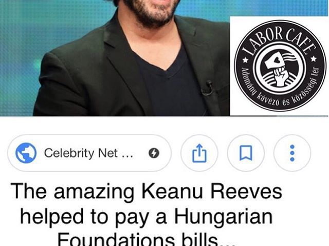 Amazing Keanu Reeves just joined our donator group and donated money for our charity café. Thank you so much! Unfortunately you are pranked, april fool. #aprilfools #joke #laborcafe #charity #donation #charitycafè #nyiregyhaza #hungary