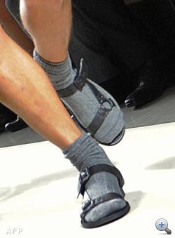 Férfi szandál zokni ez nem divatos