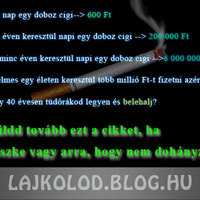 Ébresztő a dohányosoknak!