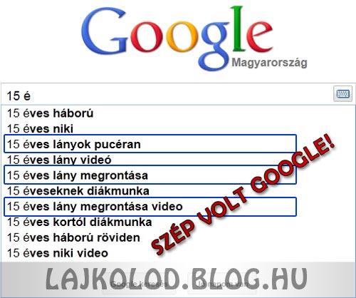 15 éves Google - Lájk