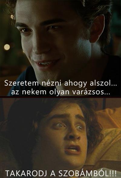 Edward Cullen és Harry Potter párbeszéde