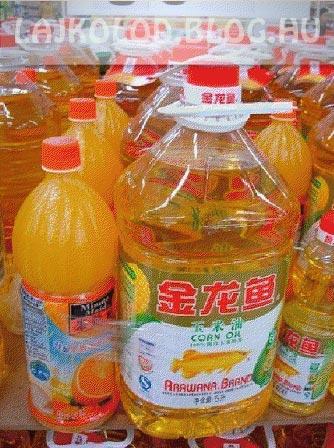 Narancslé és olaj - Kínai Tesco