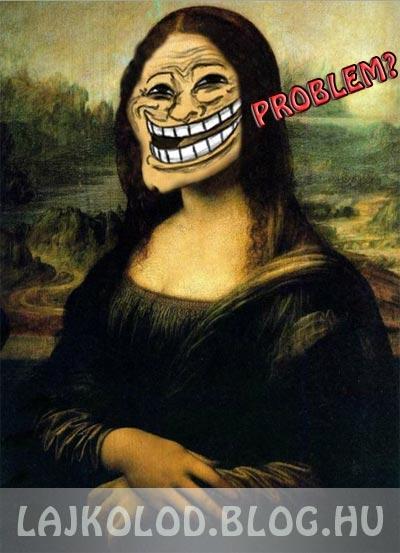 Troll Mona Lisa - Lájk