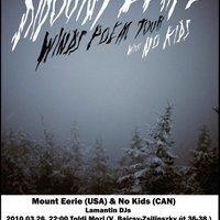 03. 26. - No Kids + Mount Eerie + Lamantin DJ set a Toldi moziban!