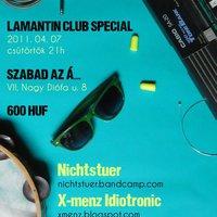 04. 07. - Nichtstuer / X-menz Idiotronic / Lamantin+Popméter @ Szabad az Á...