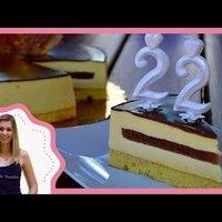 Körtés-fehér csokoládés mousse torta