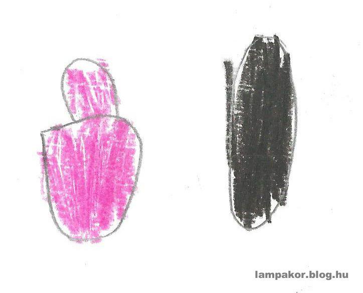 Rózsaszín és fekete körömlakk.