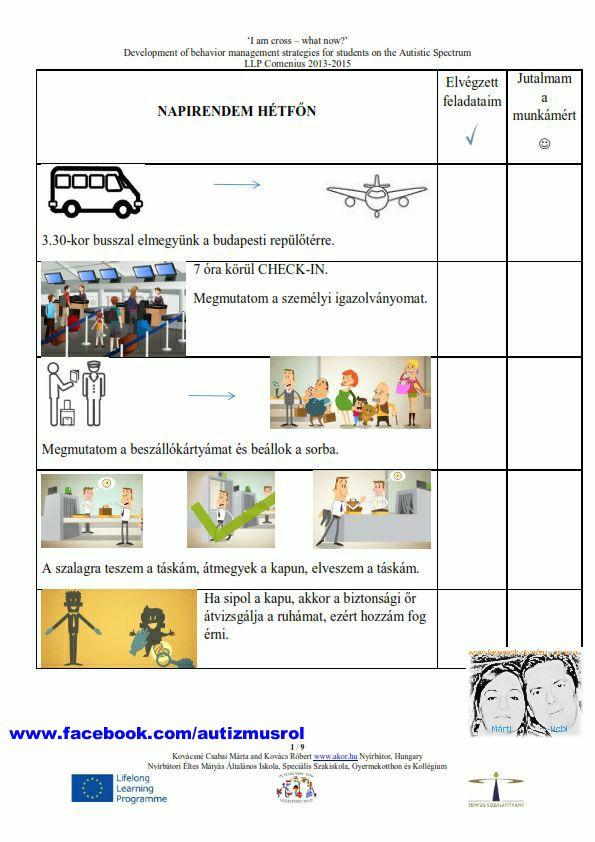 Auti tanulóink napirendje