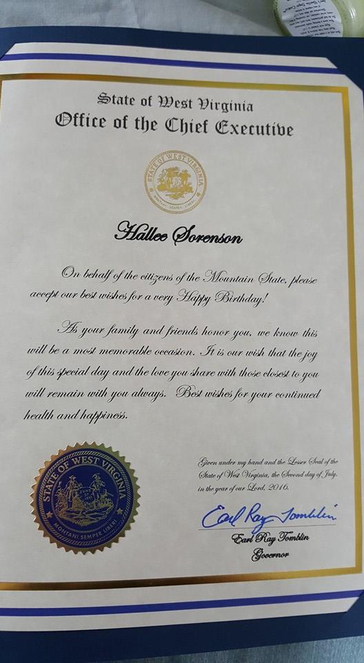 Nyugat-Virginia kormányzójának a levele