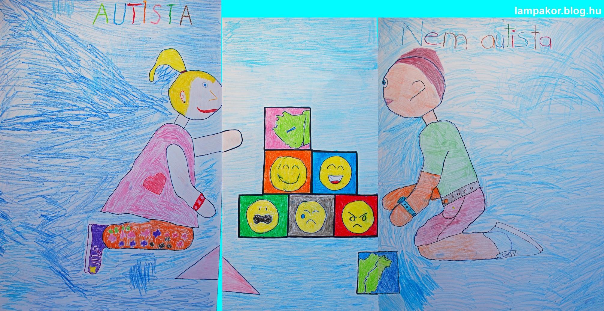 Autista és nem autista diákok közösen építik hazánkat