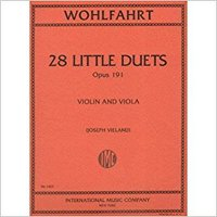 ,,READ,, Wohlfahrt, Franz - 28 Little Duets, Op. 191. For Violin And Viola. Edited By Vieland. International. Titulo membrane Final contacts mucho