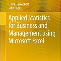 Applied Statistics For Business And Management Using Microsoft Excel Mobi Download Book