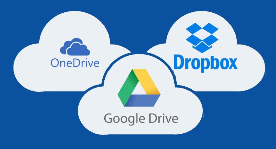 google drive dropbox onedrive