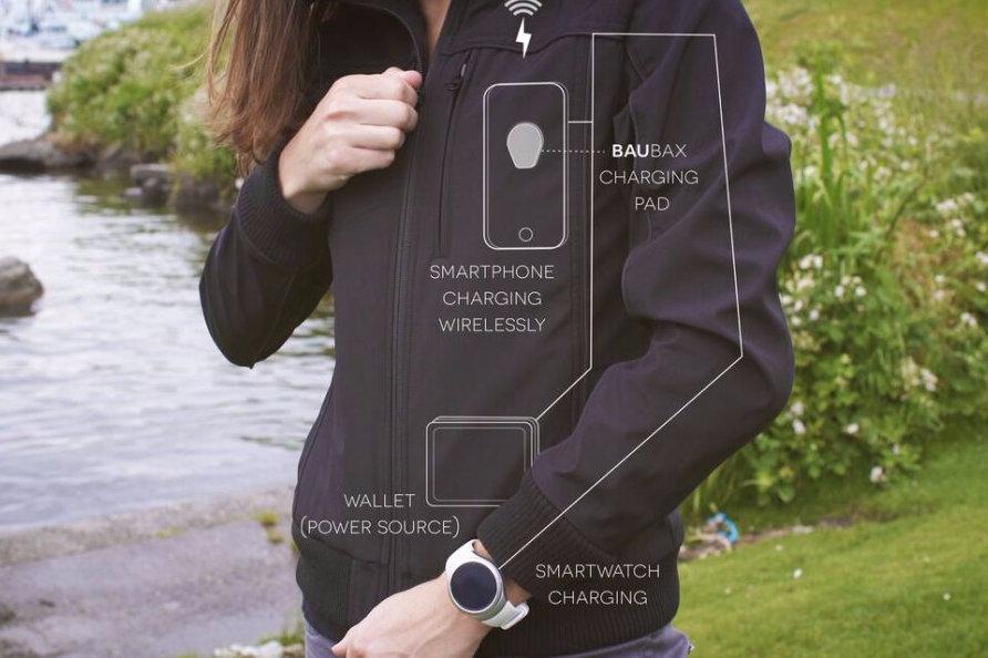 okos kabát - akkutöltő