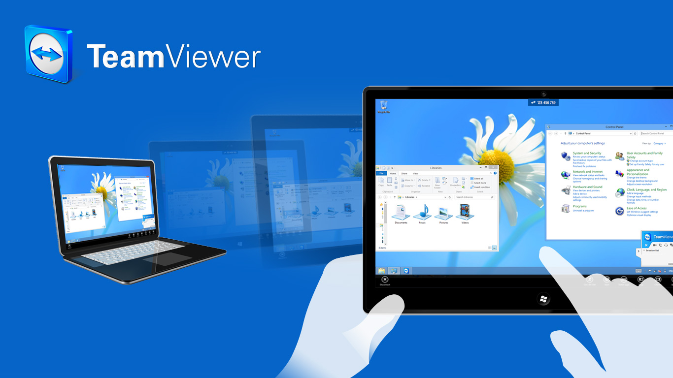 teamviewer laptop tablet