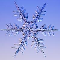 Hópehelyről készült fénykép