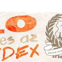 Indexes címer, hibás latin szöveggel