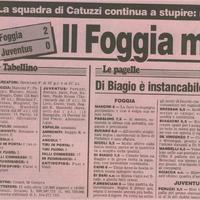 1994-1995: Foggia-Juventus 2-0 (6. forduló)