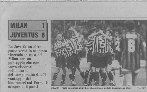 Милан 1- 6 ювентус